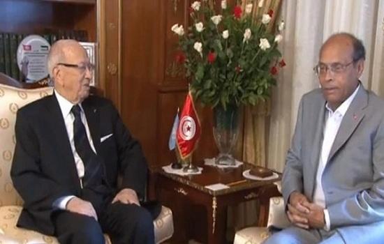 محمد المنصف المرزوقي والباجي قائد السبسي