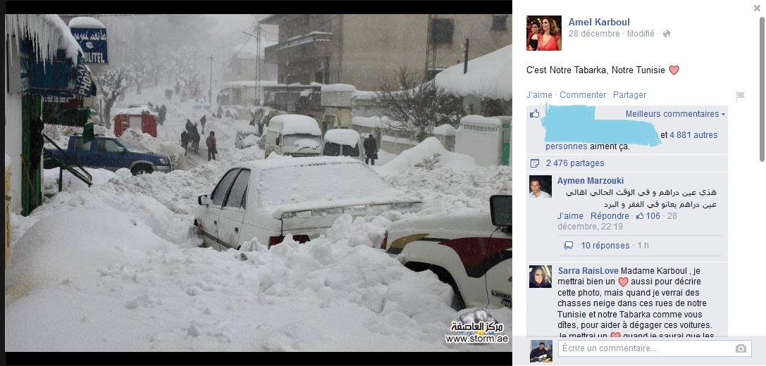 تداول صورة لمدينة عين دراهم تحت الثلوج