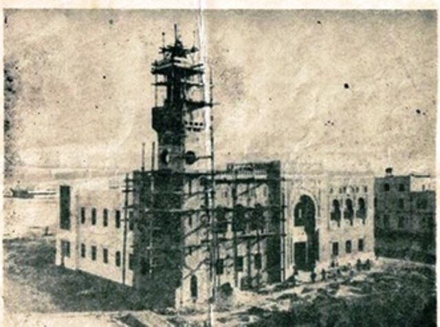 أشغال بناء قصر البلدية