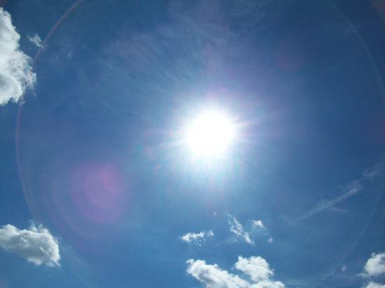 يوم مشمس - شمس - إرتفاع الحرارة