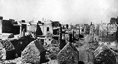 تهدم جزء كبير من الربض القبلي بسبب قصر الحرب العالمية الثانية
