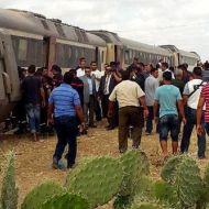 حادث - قطار - شاحنة - مدينة الفحص