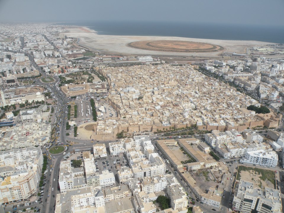 صفاقس من فوق - مشروع تبرورة - المدينة العتيقة