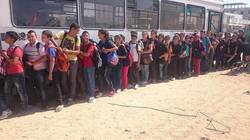 السورتراس - صفاقس - إتخاذ صف قبل الصعود إلى الحافلة