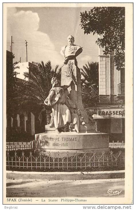 تمثال فيليب توما: مكتشف الفسفاط