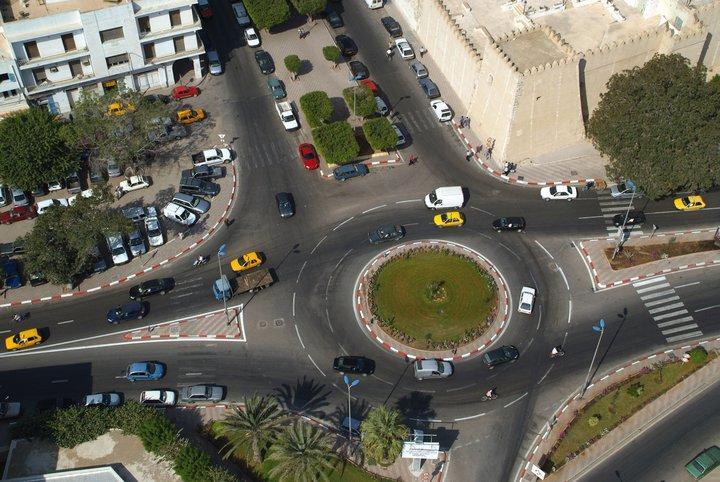 المفترق الدائري - شارع الجيش - برج النار - شارع علي بلهوان