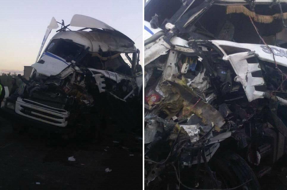 صفاقس : 3 جرحى اثر إصطدام شاحنة بأخرى