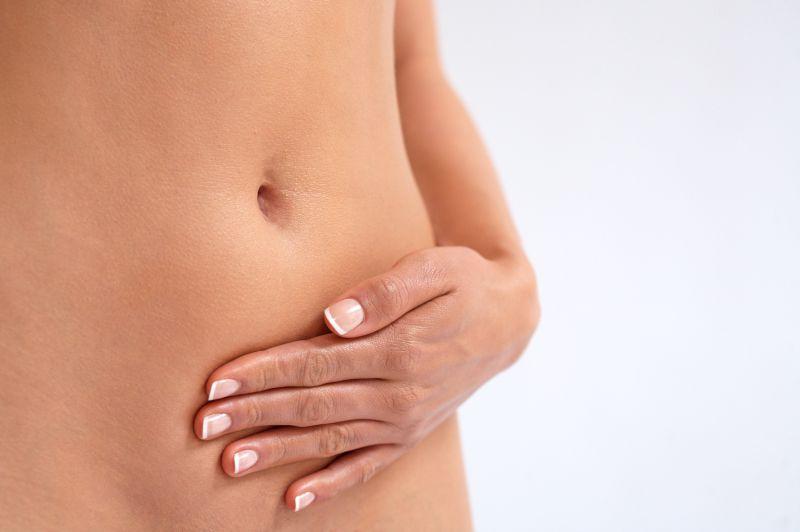 سرطان عنق الرحم - بطن