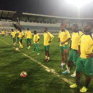 """تمرينات فريق """"بامندا الكاميروني"""" في ملعب الطيب المهيري"""