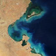 وكالة الفضاء الأمريكية - صورة - خليج قابس - صفاقس - جربة - جرجيس