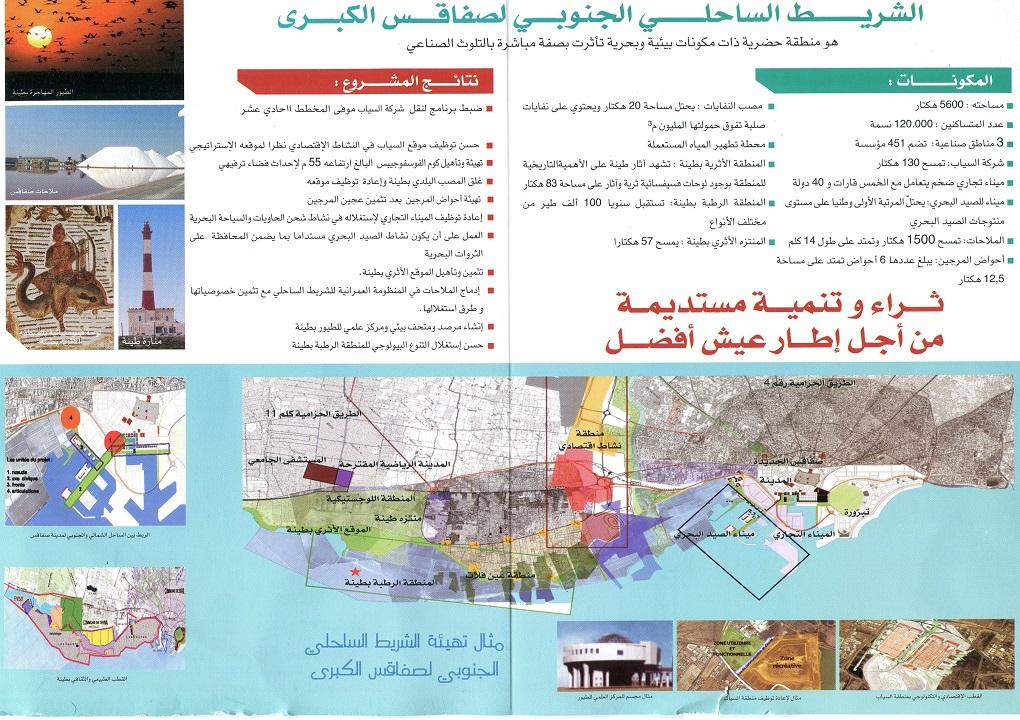استراتيجيّة صفاقس 2016 والمشاريع المنبثقة عن دراسة « SMAP 3 » المتعلّقة بالتصرّف المندمج للشّريط السّاحلي للمدينة