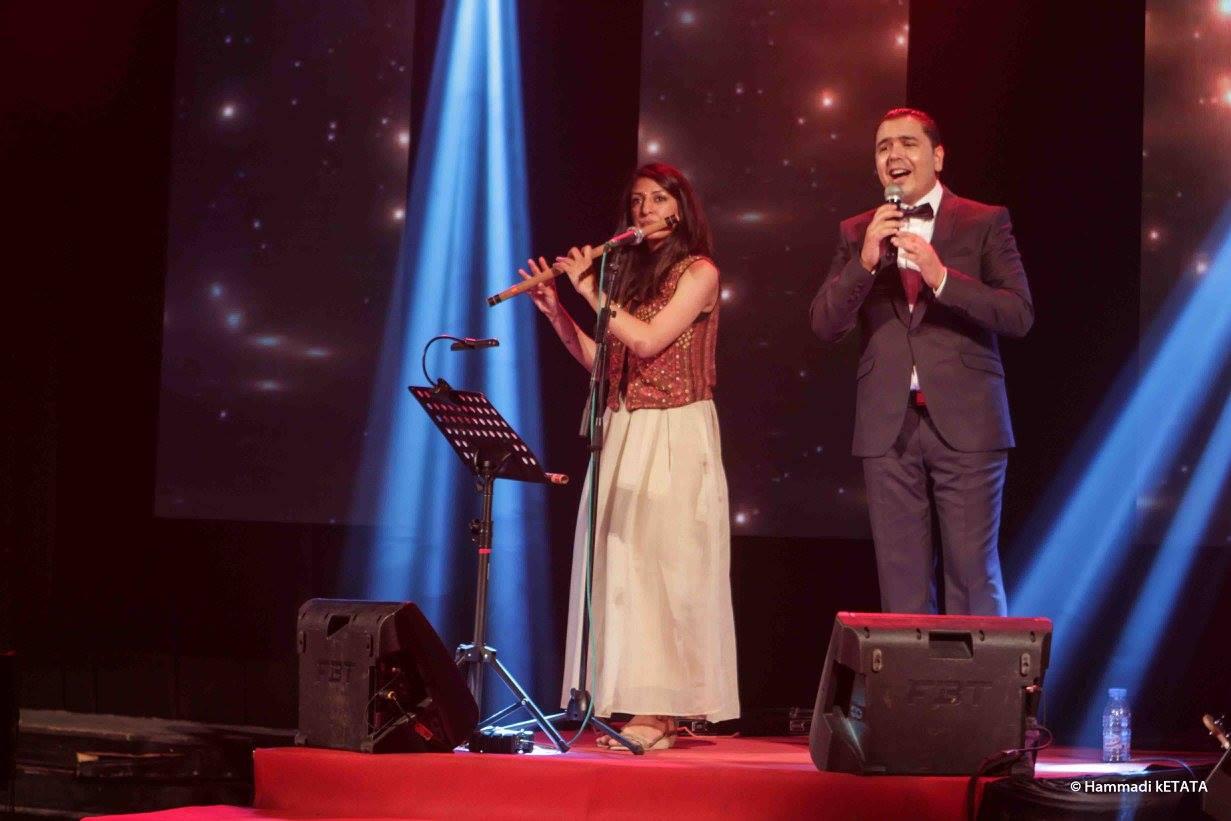 رسيقا شيكار ونبيل بوذينة في إختتام مهرجان استخبار للموسيقات