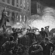 مذبحة هايماركت أو شغب هايماركت حدثت في يوم الثلاثاء 4 مايو 1886، في ميدان هايماركت في شيكاغو. وقد بدأت كتجمع مؤيد لعمال مضربين