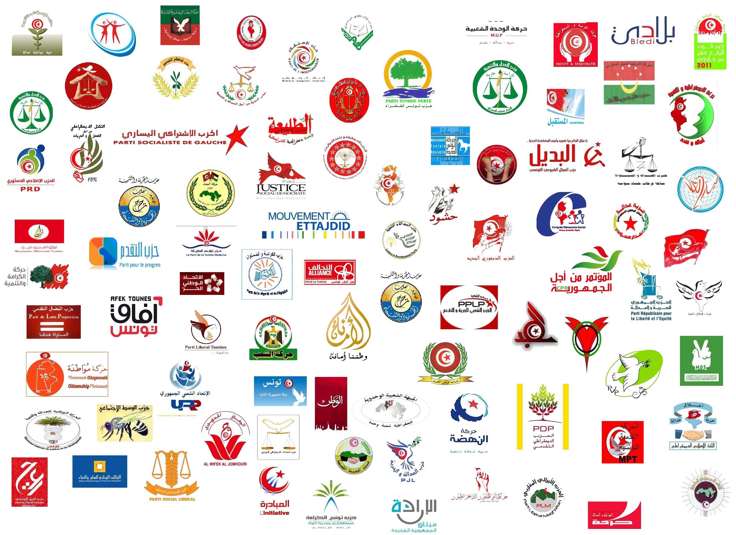 الأحزاب السياسية في تونسالأحزاب السياسية في تونس