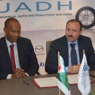 """شركة UADH تمضي بروتوكول اتفاق مع دولة """" دجيبوتي """" لبيع مجموعة من السيارات والعربات"""