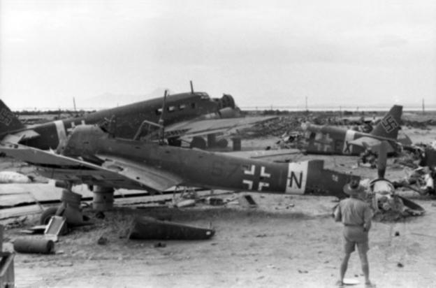 تحطم طائرات ألمانية في تونس