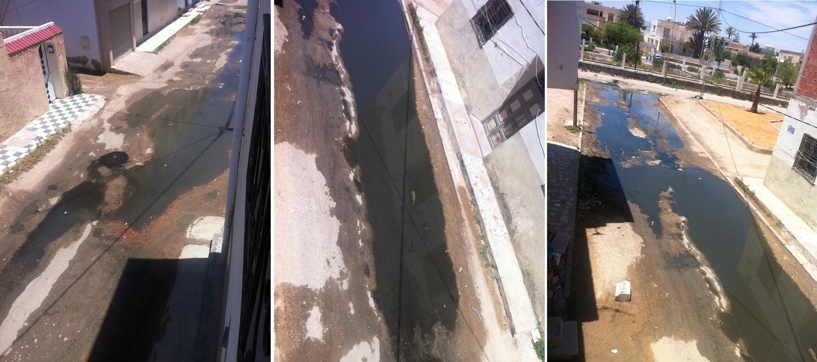 صفاقس : فيضان المياه الأسنة تقلق راحة سكان زنقة تقتق