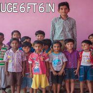 لم يتجاوز عمره الثماني سنوات : شاهد أطول طفل في العالم وطوله يقارب المترين