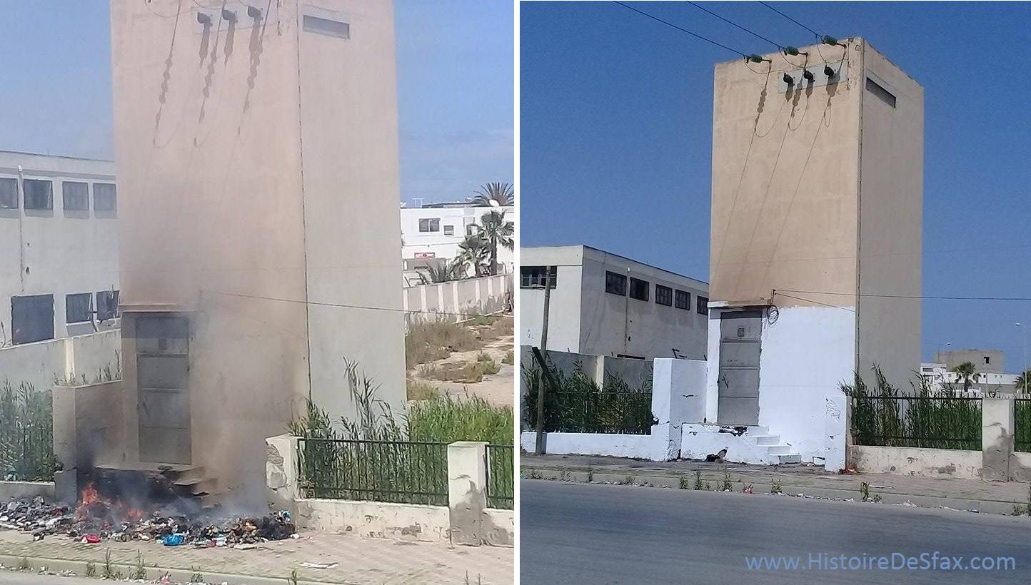 صفاقس : بعد حريق أسفل محطة الكهرباء .. مواطن يتطوع ويقوم بتهيئة المكان على أكمل وجه