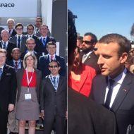 """شركة """"تالنت"""" ممثلة في محمد الفريخة تشارك في """"معرض باريس الجوي"""" ولا جانبه إيمانويل ماكرون"""