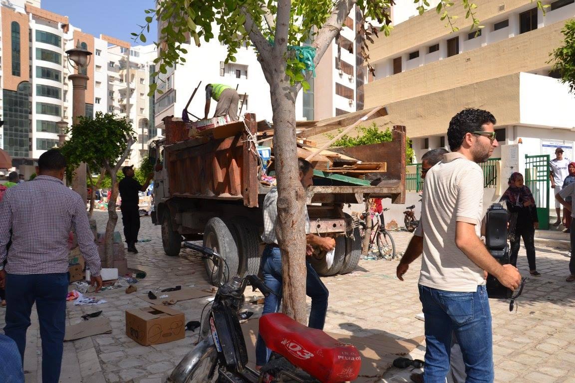 انطلاق الحملات الميدانية لمقاومة الانتصاب الفوضوي واحتلال الرصيف بمدينة صفاقس