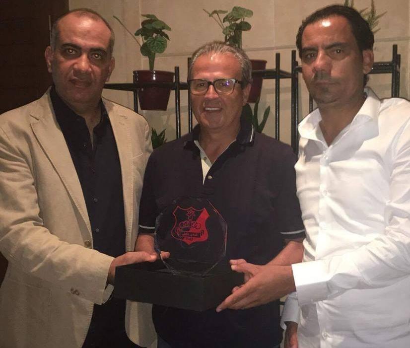 رئيس النادي الصفاقسي المنصف خماخم - خالد السعيطي رئيس اللجنة التسيرية لأهلي بنغازي الليبي