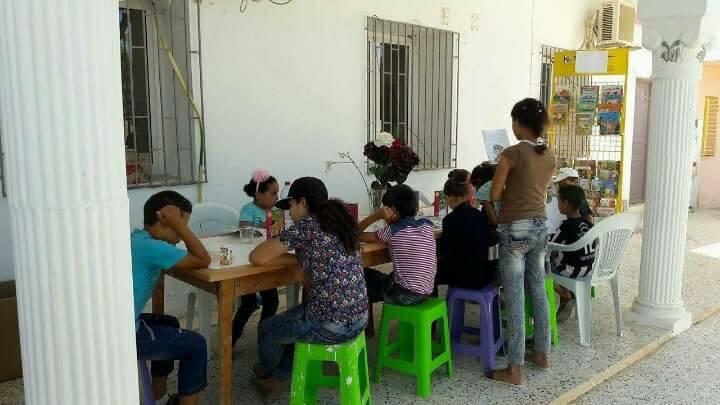 صفاقس - منطقة الحاجب : إفتتاح نواة مكتبة بمجهود بعض المواطنين