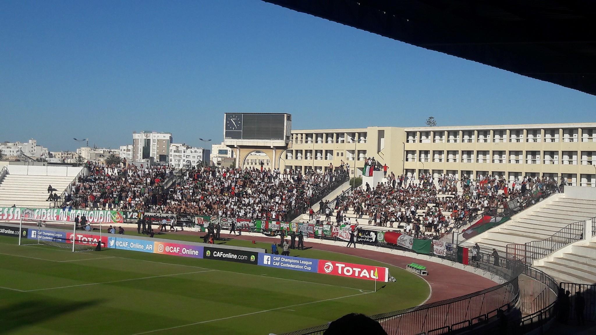 جماهير مولودية الجزائر في ملعب الطيب المهيري بصفاقس