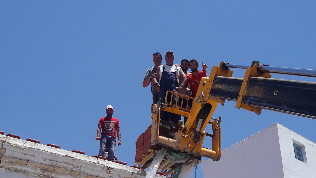 صفاقس : ترميم الكنيسة الأرثودكسية اليونانية - فريق العمل اليوناني