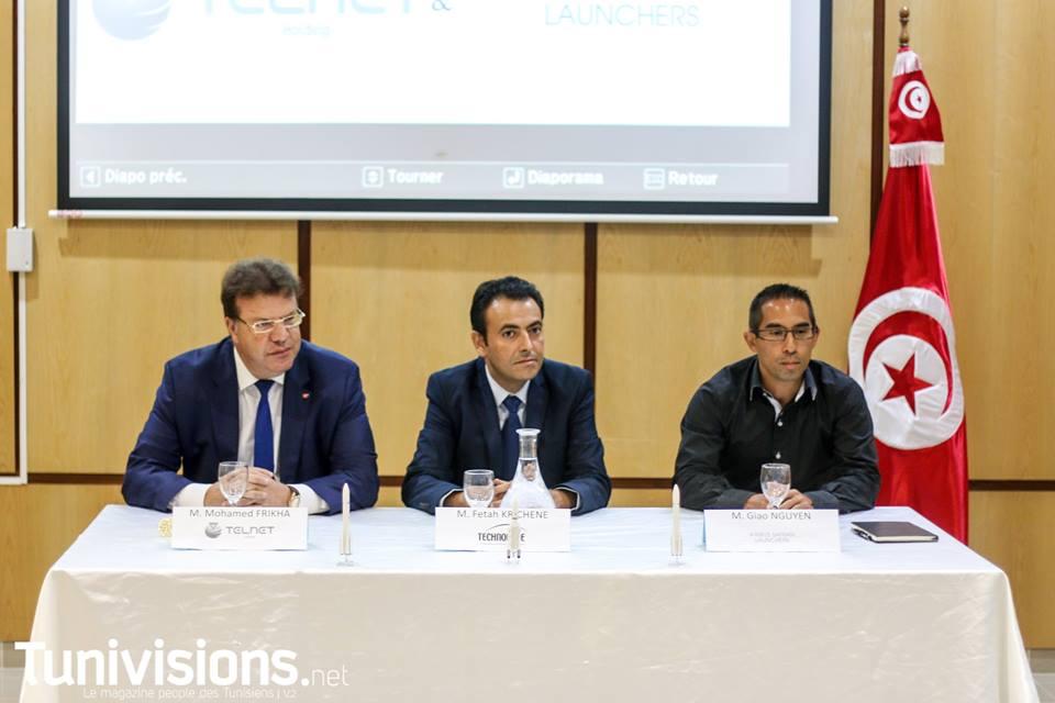 مراسم توقيع بروتوكول شراكة بين القطب التكنولوجي بصفاقس وشركة تلنات وشركة -INC Telnet وايرباص سفران Airbus Safran لونشرس