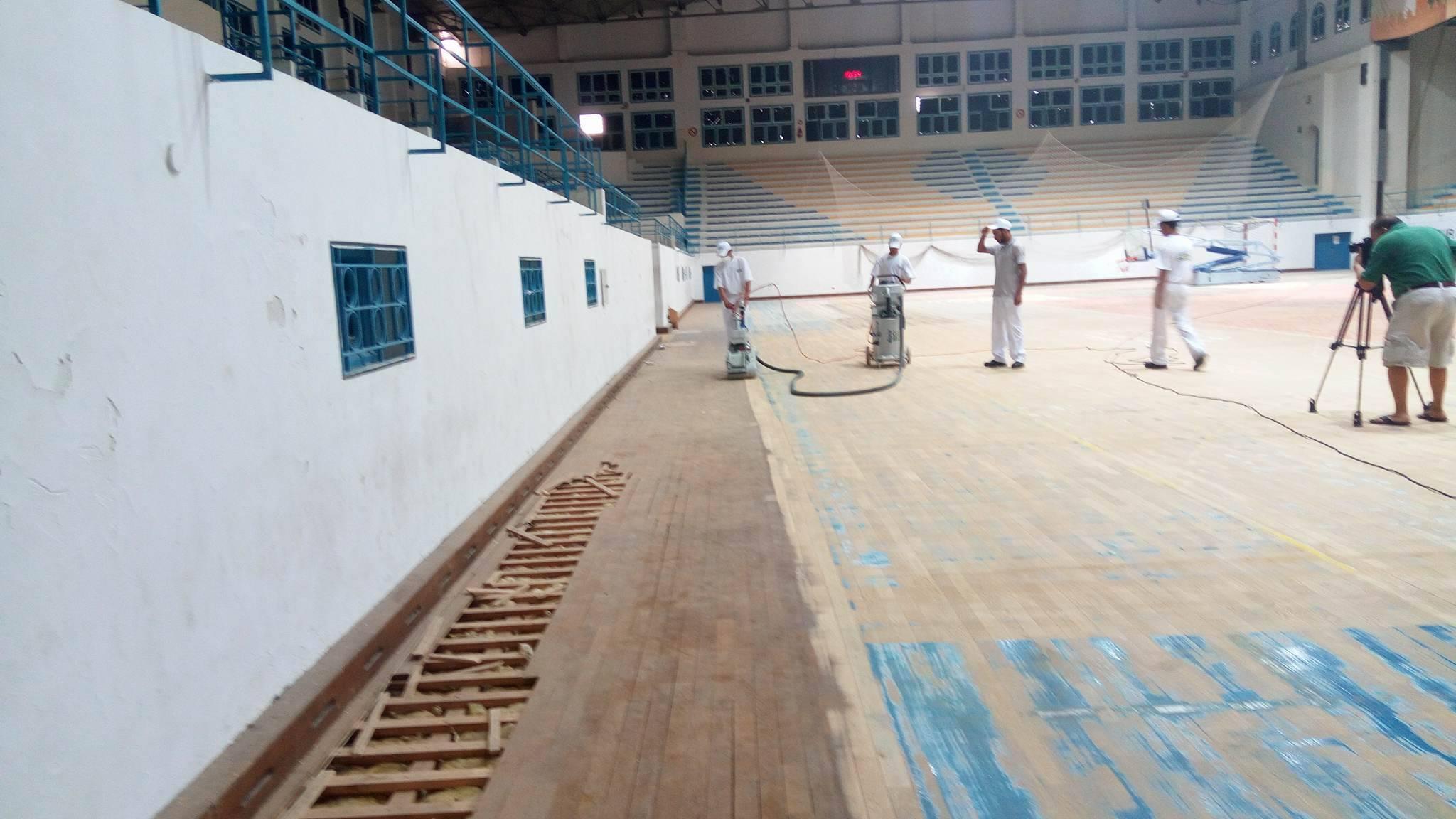 صفاقس : انطلاق أشغال صيانة ارضية القاعة الرياضة الرائد البجاوي