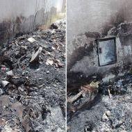 حريق في مصب فضلات كاد أن يكون كارثة في حرق المنازل المجاورة