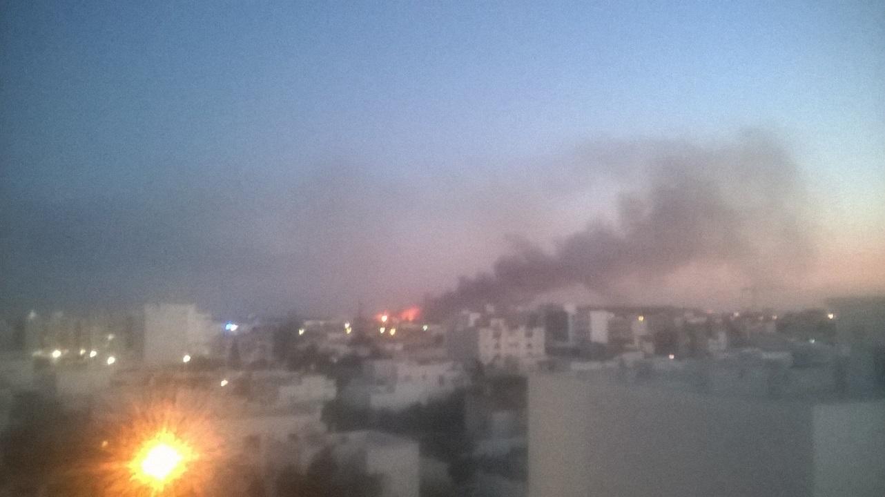صفاقس : حريق هائل خلف مصنع السياب