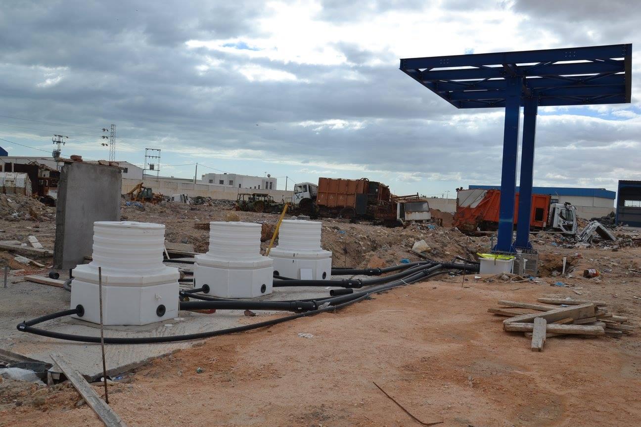 صفاقس : تقدم في نسبة الاشغال في مشروع بناء محطة التزويد بالوقود بالمستودع البلدي