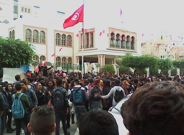 صفاقس - احتجاجات تلمذية