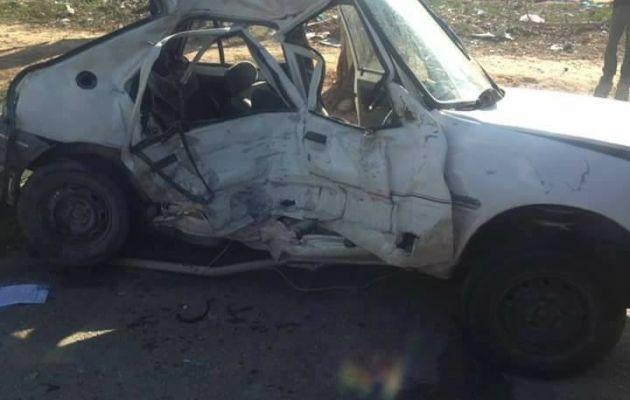"""تتواتر الحوادث في طريق صفاقس وبئر علي : إصطدام سيارة بـ""""لواج"""" يسفر عن وفاة إمرأة على عين المكان"""