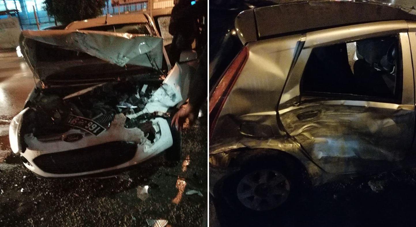 صفاقس : حادث مرور بين 3 سيارات اثر إنتهاء مباراة تونس وليبيا