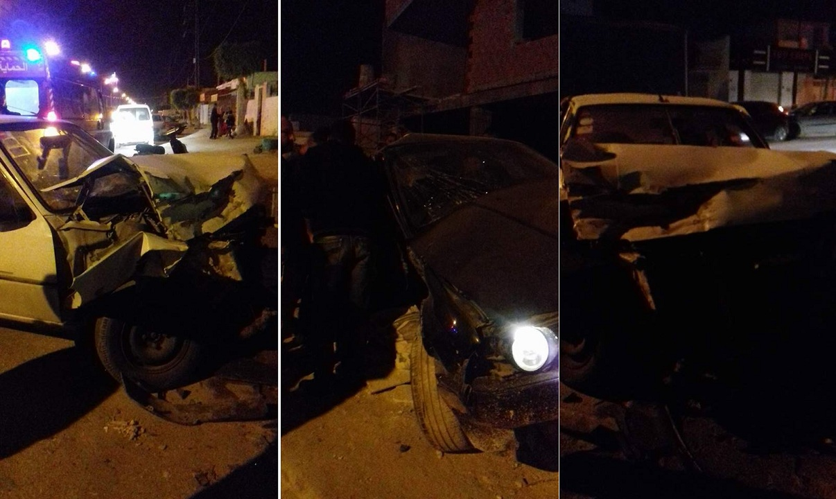 صفاقس : حادث مرور بين 3 سيارات دفعة واحدة