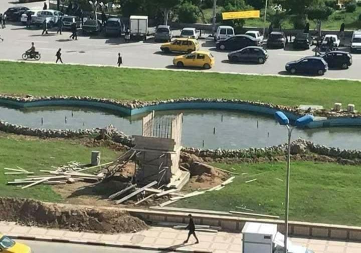 إنجاز قاعدة لتمثال الحبيب بورقيبة بورقيبة صفاقس
