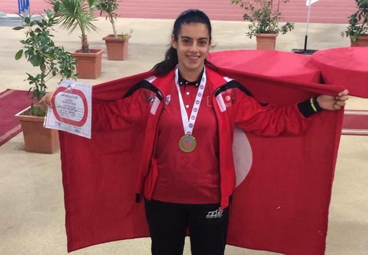 إبنة النادي الصفاقسي نور بن عامر بطلة العرب في رمي الرمح