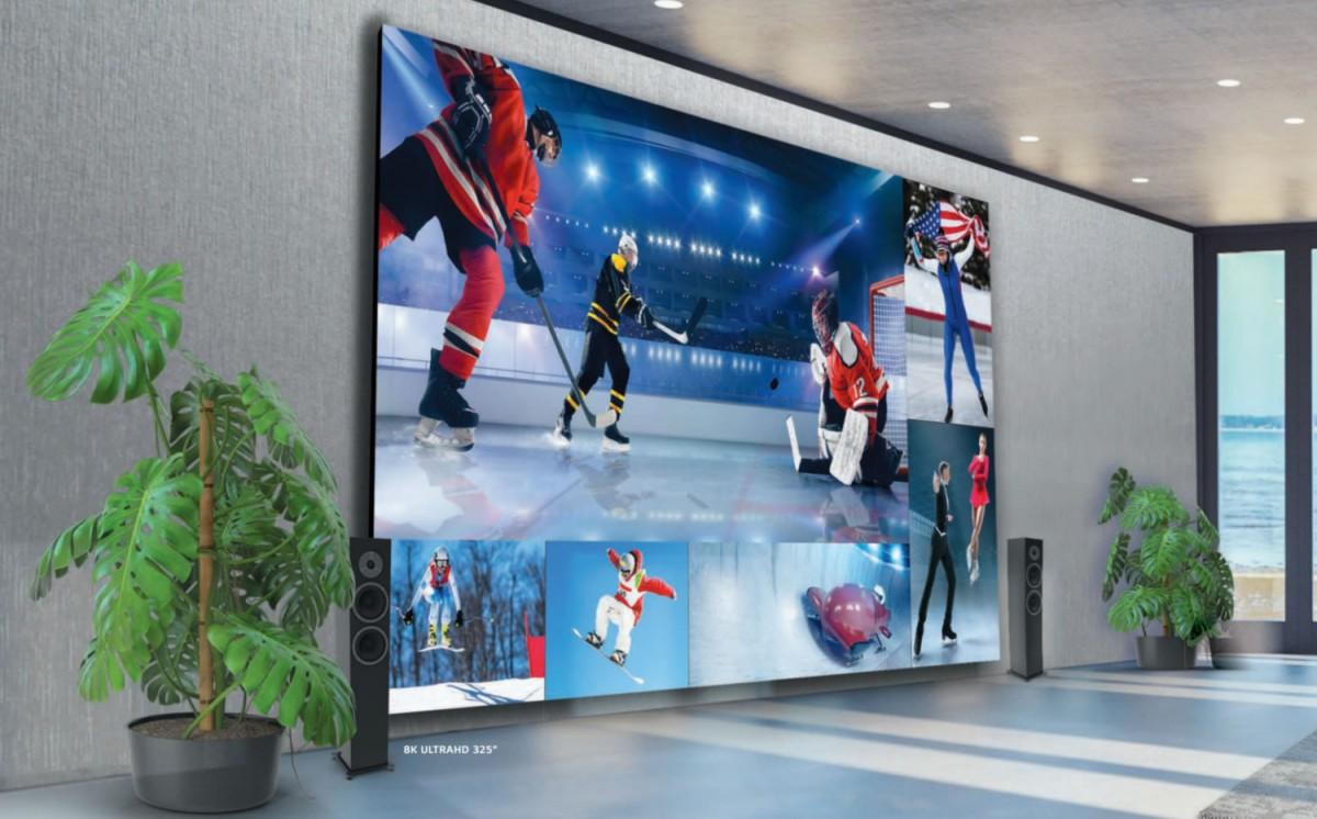 LG lance un téléviseur géant DVLED 8K de 325 pouces